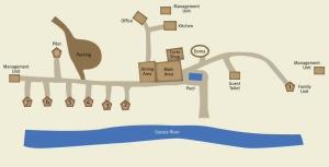 Plan du Savuti camp