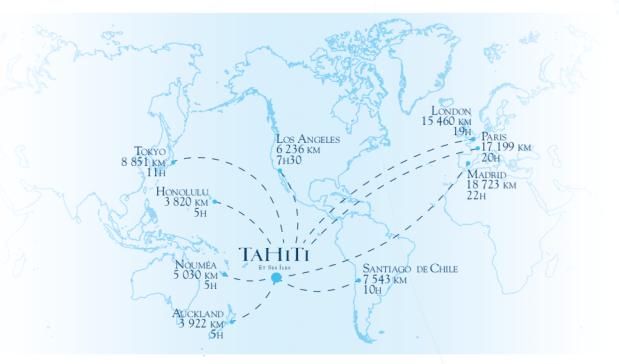 Carte de situation @ Tahiti Tourisme