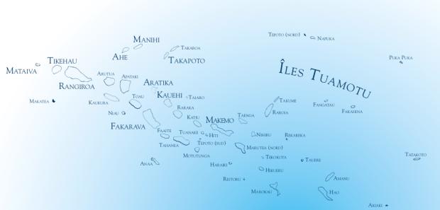 Carte Tuamotu @ Tahiti Tourisme